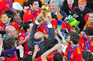 Spain won the World Cup in 2010 (Courtesy of Wikipedia)