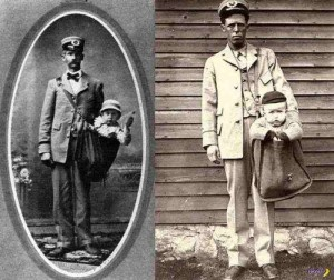 "Postal workers holding their ""parcels"" (via Saving Lincoln Facebook page)"